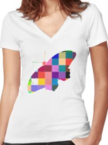 Butterfly Art 9 Women's Fitted V-Neck T-Shirt