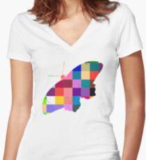 Butterfly Art 9 Women's Fitted V-Neck T-Shirt