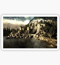 Lake castle Sticker