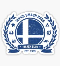 Smash Club (Blue) Sticker