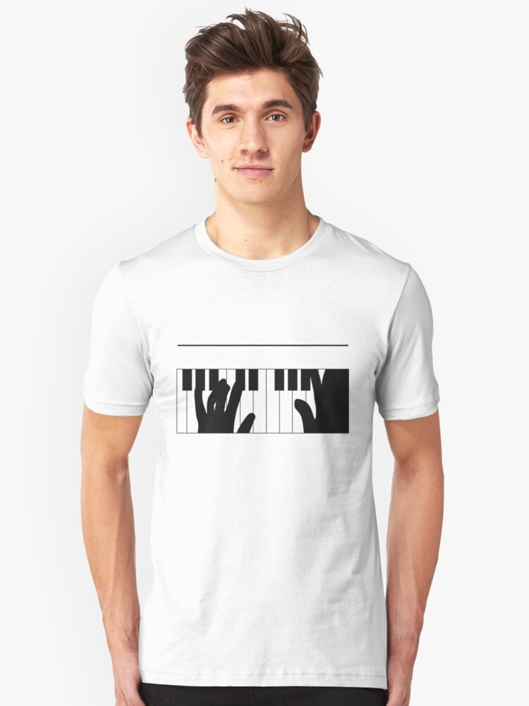 Piano Fingers Rhapsody T-Shirt by CroDesign