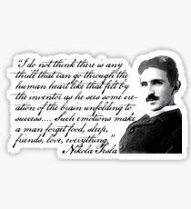 Nikola Tesla on Invention Sticker