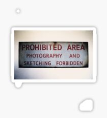 No Photography or Sketching  Sticker