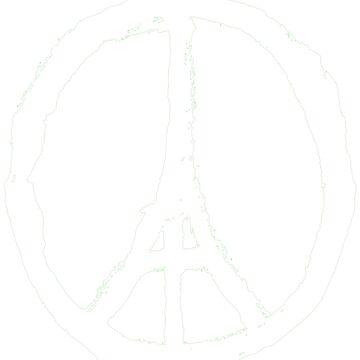 Peace, Pray For Paris White by luckynewbie