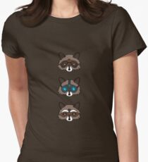 Raccoons Womens Fitted T-Shirt