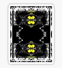 Yellow Web Sticker