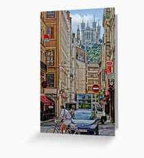 Iconic Lyon (in camera HDR - Sony RX100) Greeting Card