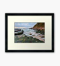 Turmoil - Turrimetta Beach, NSW Framed Print