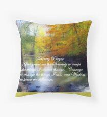 Serenity Prayer With Beautiful Autumn Scene Throw Pillow