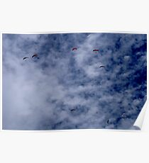 Para gliders in the sky Poster