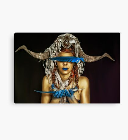 she's an odd bird Canvas Print
