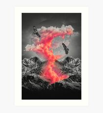 Burn Brighter In the Dark  Art Print