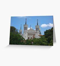 Basilica: Basilique Notre-Dame de Fourviere, Lyon, France Greeting Card