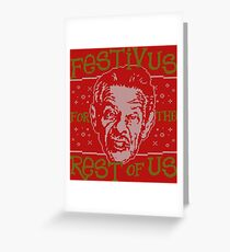 A festivus for the rest of us greeting cards redbubble a festivus for the rest of us greeting card m4hsunfo