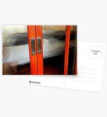 Ribbed Glass Doors - A Half Made Bed Postcards
