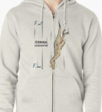 Terminal Velociraptor Zipped Hoodie