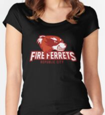 Republic City Fire Ferrets Women's Fitted Scoop T-Shirt