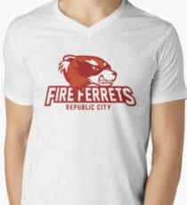 Republic City Fire Ferrets Men's V-Neck T-Shirt