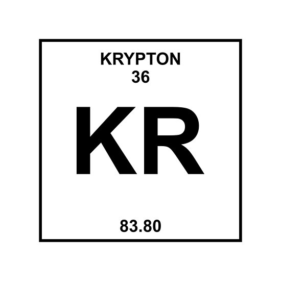 "Krypton Element Periodic Table ""Krypton Periodic..."