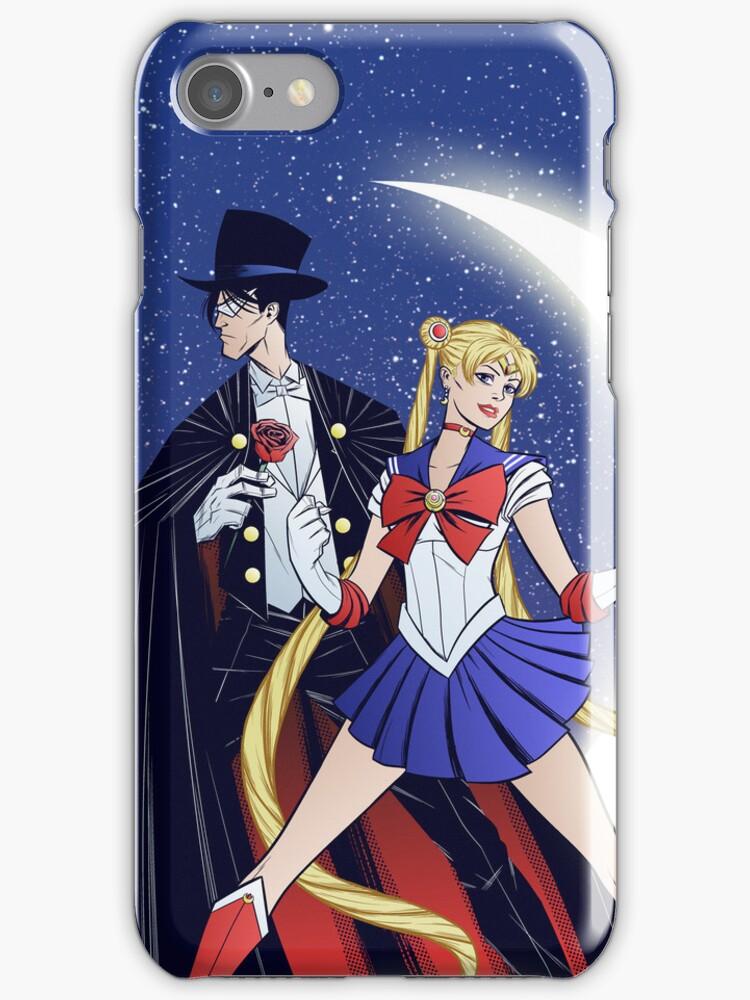 Sailor Moon/Tuxedo Mask by gadgetwk