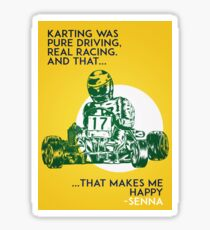 Senna Karting Sticker