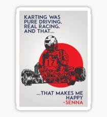 Senna Karting Sticker