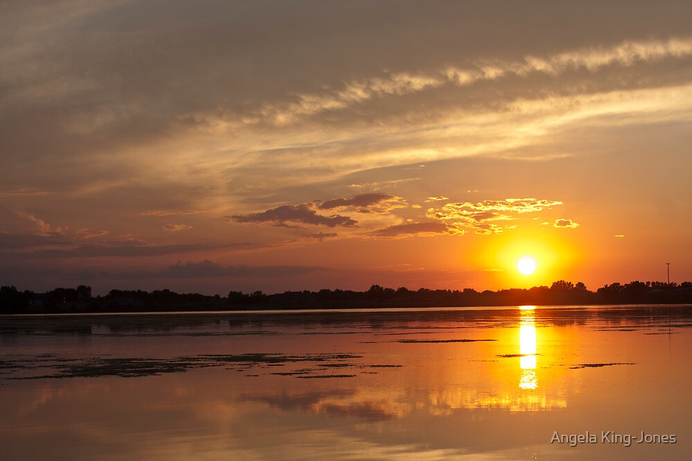 Upon the Sun kissing the water by Angela King-Jones