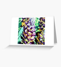 Lupin Camouflage Greeting Card