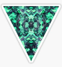 Abstract Surreal Chaos theory in Modern poison turquoise green Sticker