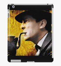 sherlock with pipe iPad Case/Skin