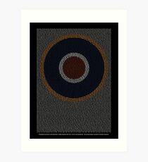 Roll of Honour 75(NZ) Squadron RAF 'Roundel' Art Print