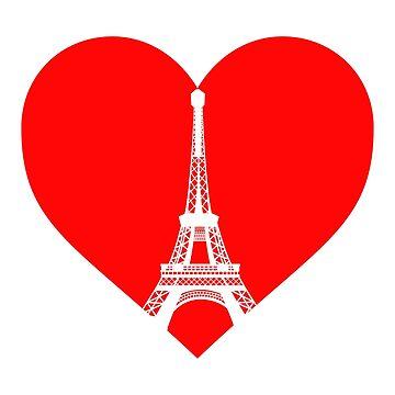 Love Paris / Pray for Paris / Peace for Paris by tshirttshirtlan