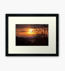 Sunset over the Coosawattee Framed Print