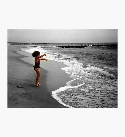 I Love The Ocean! Photographic Print