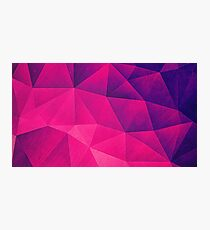 Abstract Polygon Multi Color Cubizm Painting in deep pink/purple  Photographic Print