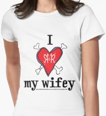 I heart my wifey <3 - light colours Women's Fitted T-Shirt