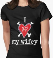 I heart my wifey <3 - dark colours Women's Fitted T-Shirt