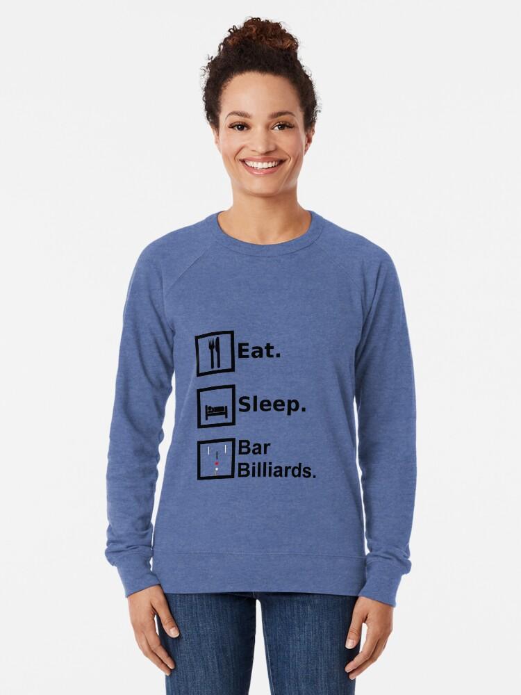 Alternative Ansicht von Essen, schlafen, Bar Billard Leichter Pullover
