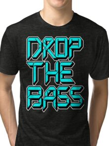 Drop The Bass (cyan) Tri-blend T-Shirt