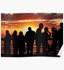 Sunset - Scheveningen Poster