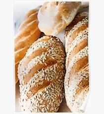 Fresh Baked Bread in Window Light Poster