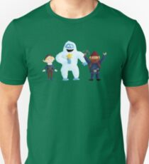 Yukon, Hermey and the Bumble in Teal Unisex T-Shirt