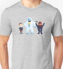 Yukon, Hermey and the Bumble in Teal T-Shirt