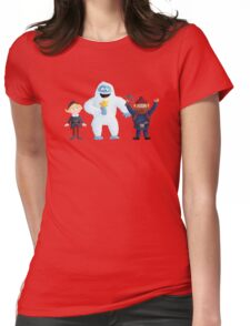 Yukon, Hermey and the Bumble in Teal Womens Fitted T-Shirt