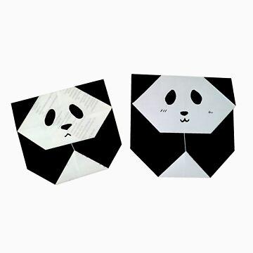 Origami panda by Hitsuji