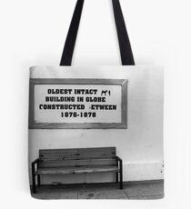 Bench in Globe Tote Bag