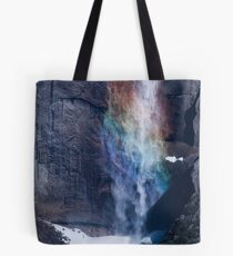 Rainbow Yosemite Falls Tote Bag