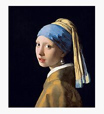 Girl with a Pearl Earring by Johannes Vermeer (1665) Photographic Print