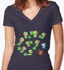 Snivy Gang Women's Fitted V-Neck T-Shirt