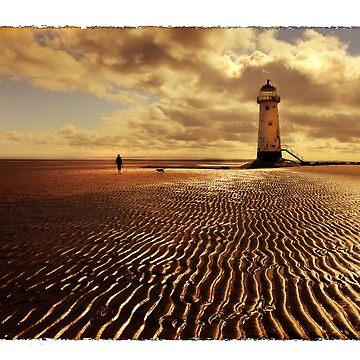 Talacre Lighthouse Point of Ayr by malbraman